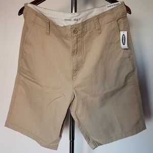 OLD NAVY Lived-In Straight Khaki Shorts